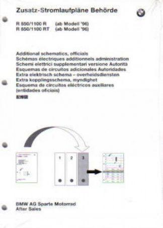 BMW R850 1100R R850 1100RT Factory Electrical Circuit Diagrams