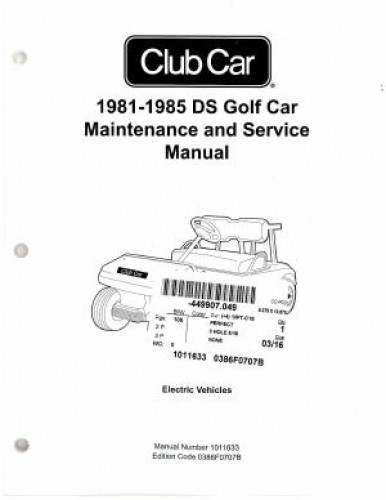 1981 1985 club car ds golf car maintenance service manual rh repairmanual com 2012 club car precedent maintenance and service manual 2003 club car maintenance and service manual