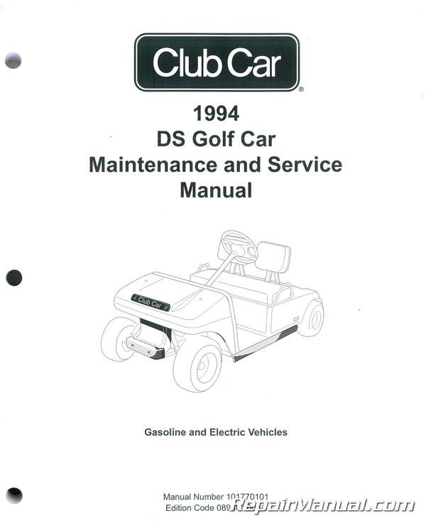 1994 club car ds golf car maintenance and service manual rh repairmanual com 1992 club car manual 1993 club car service manual