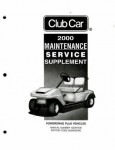 Official 2000 Club Car PowerDrive Plus Maintenance And Service Manual Supplement