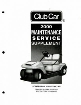 club car maintenance and service manual