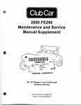 Official 2000 Club Car FE290 Maintenance And Service Manual Supplement