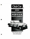 Official 2000 Club Car FE350 Gasoline Service Manual Supplement