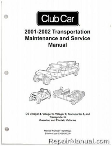 club car villager 8 wiring diagram2001 2002 club car transportation ds villager 4, villager 6, villager 8,