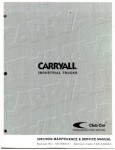 Official 2001-2002 Club Car Carryall Electric Industrial Trucks Factory Service Manual
