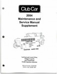 Official 2004 Club Car FE350 Maintenance And Service Manual Supplement