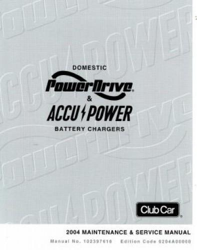 club car powerdrive 2 charger manual