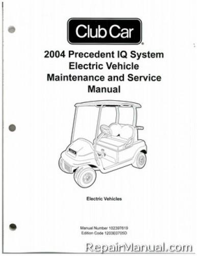 2004 club car precedent iq system electric vehicle electric golf rh repairmanual com