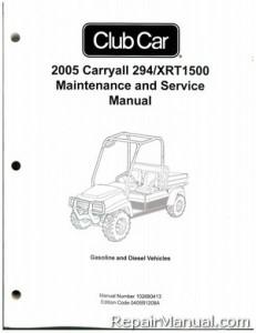2005 club car carryall 294  xrt1500 gas diesel golf cart