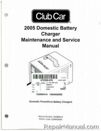 2005 club car domestic battery charger domestic powerdrive battery rh repairmanual com Energizer Battery Charger Duracell Battery Charger