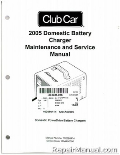2005 club car domestic battery charger domestic powerdrive battery rh repairmanual com Peak Battery Charger Vector Battery Charger