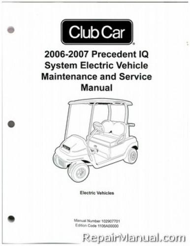 club car precedent iq system electric vehicle maintenance service rh repairmanual com