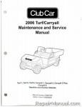 Official 2006 Club Car Turf/Carryall Turf 1, Turf 2, Turf 6, Carryall 1, Carryall 2, Carryall 2 Plus, Carryall 6 Gas and Electric Service Manual