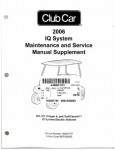 Official 2006 Club Car IQ System Service Manual Supplement
