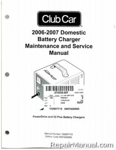 2006 2007 club car domestic battery charger domestic powerdrive and rh repairmanual com club car powerdrive 2 charger manual Stanley Charger Manuals