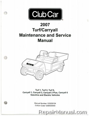 2007 club car carryall service manual 295 295se xrt 1550 1550se rh repairmanual com Club Car Kawasaki Engine Diagram Club Car Engine Parts