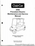 2008 Club Car Precedent Electric IQ System and Excel System Electric Service Manual