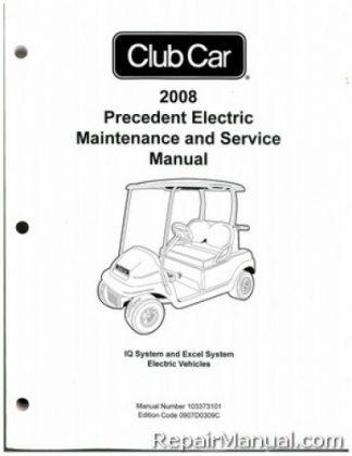 2007-2008 Club Car XRT 800/810/850 Gas and Electric Service