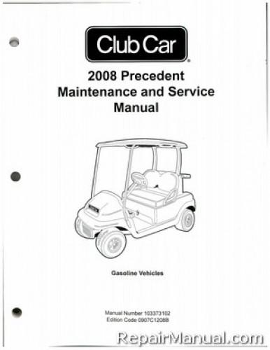 Club Car Precedent Service Manual