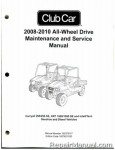 Official 2008-2012 Club Car Carryall 295/295 SE, XRT 1550/1550 SE Diesel and IntelliTach Service Manual