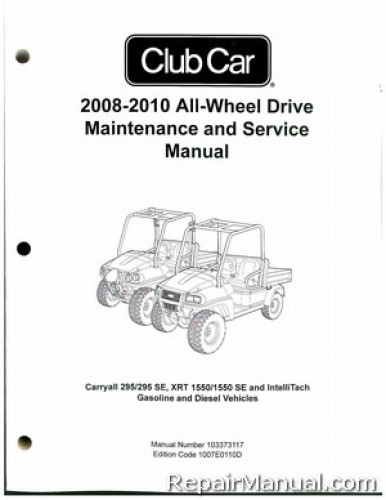 club car ds gas wiring diagram 2008-2012 club car carryall 295, 295 se, xrt 1550, 1550 se ... 2009 club car xrt 1550 wiring diagram