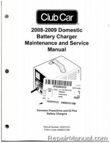 2008 club car domestic powerdrive and iq plus battery charger rh repairmanual com Club Car Battery Charger Diagram Club Car Power Drive Charger Manual
