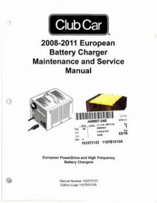 Official 2008-2011 Club Car European Battery Charger Maintenance And Service Manual