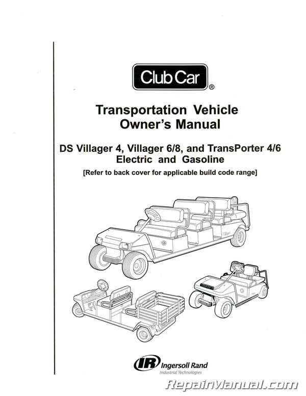 club car transportation villager transporter owners manual service manual for 2008 club car precedent service manual club car golf cart