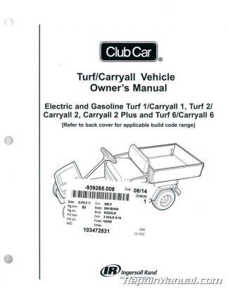 Club Car Turf / Carryall Owners Manual