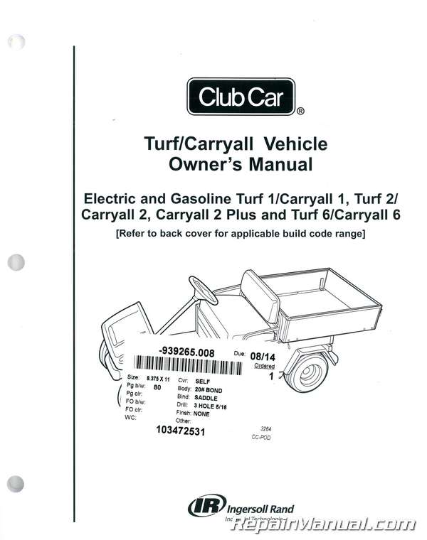 103472531t club car parts manual 28 images club car domestic and export club car turf 2 wiring diagram gas at gsmx.co