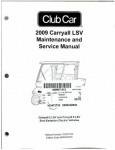 Official 2009 Club Car Golf Cart Carryall LSV Maintenance Service Manual
