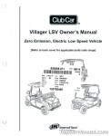 Club Car Villager LSV Owners Manual