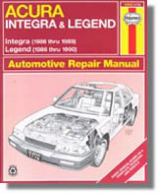 Haynes Acura Integra Legend Auto 1986-1990 Repair Manual