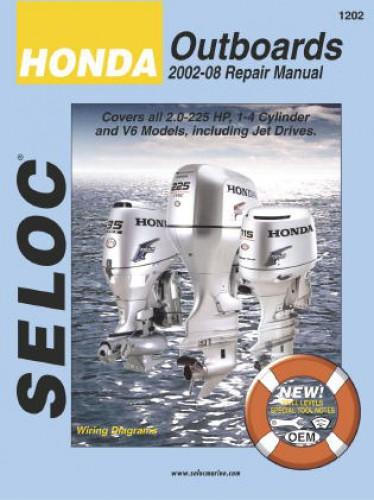 Seloc 2002 2008 honda outboard boat engine repair manual for Boat motor repair manuals