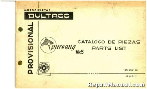 Bultaco Pursang MK5 Parts List