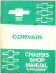 1967 Chevrolet Corvair Chassis Workshop Manual Supplement Used