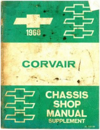 1968 Chevrolet Corvair Chassis Workshop Manual Supplement Used