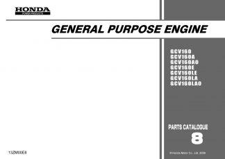 Honda GCV160/160A/160A0/160E/160LE/160LA/160LA0 Parts Catalog