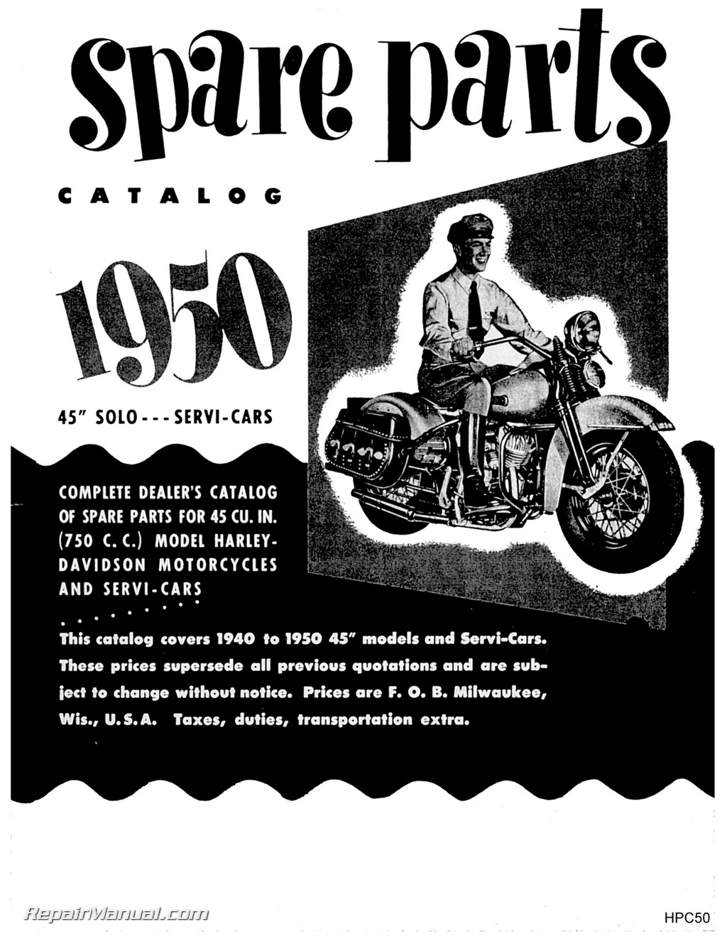1940-1950 Harley-Davidson 45 Cubic Inch 750cc Solo Servi-Car Parts on golf cart wiring diagram, taylor dunn electric cart wiring diagram, ezgo gas wiring diagram,