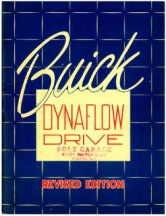 1948-1950 Buick Dynaflow Transmission Shop Manual