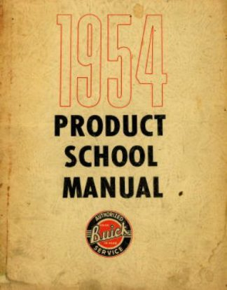 Used 1954 Buick Product School Manual