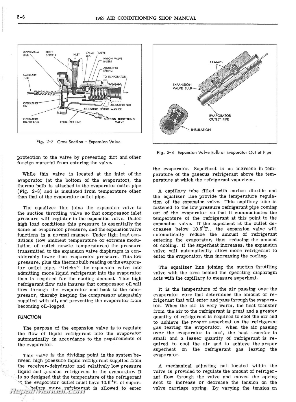 1965 pontiac and tempest air conditioning manual