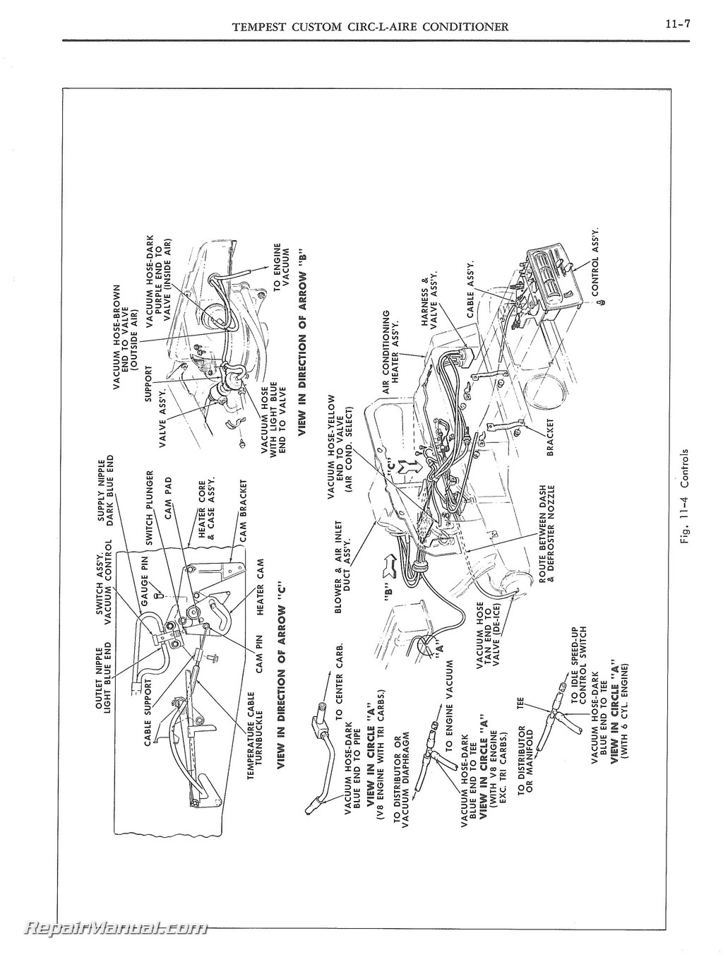 1956 Pontiac Heater Diagram Wiring 1958 Chieftain 1965 And Tempest Air Conditioning Manual Cars Source Star Chief Wikipedia 1957