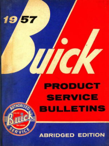 Buick Product Service Bulletins Manual 1957 Used