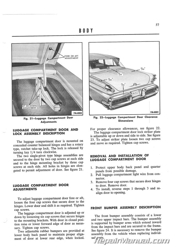 1957 Mercury Monterey Montclair Turnpike Cruiser Advance Service  Information Manual Supplement
