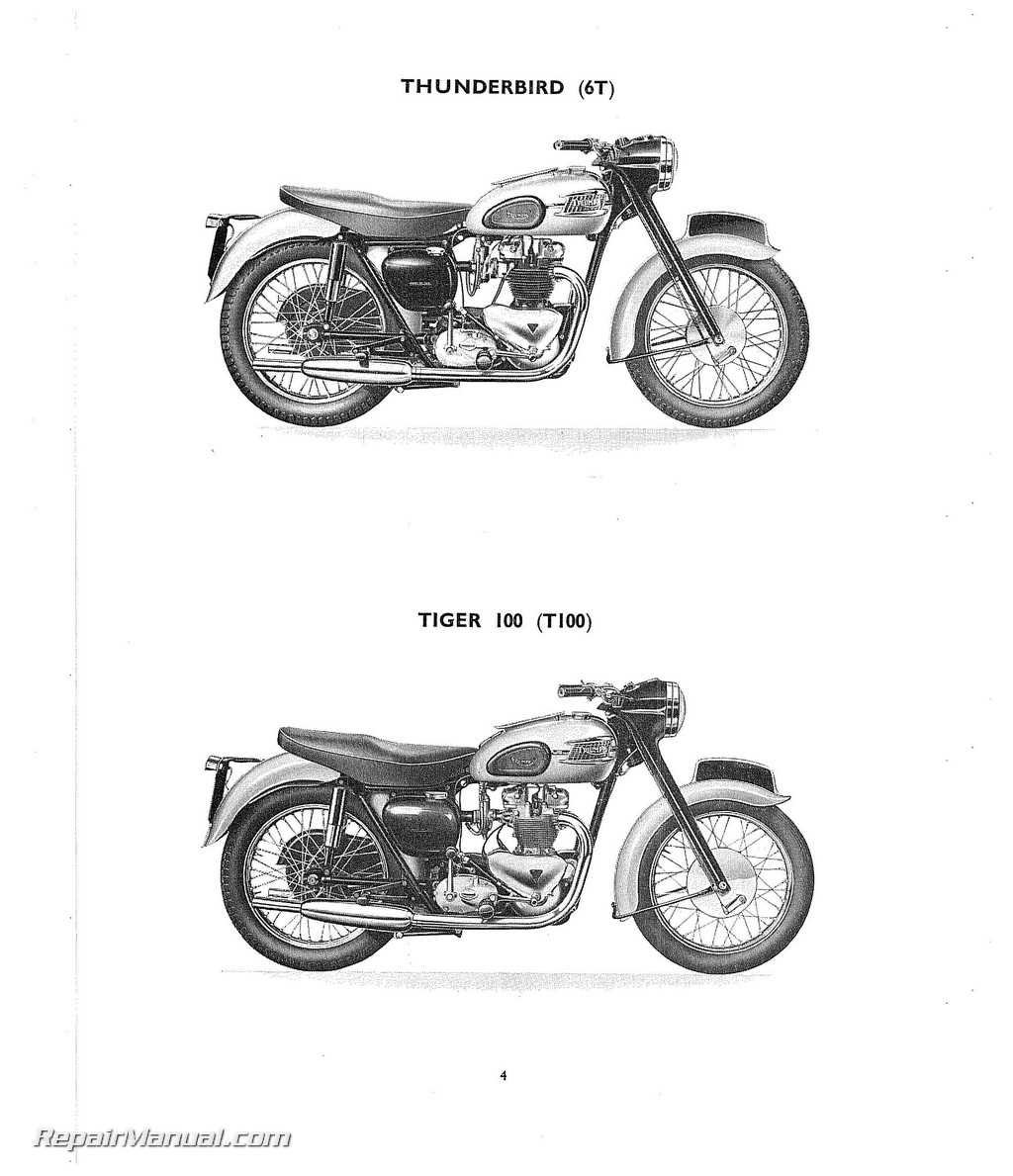 1959 triumph 6t t100 t110 t120 tr6 motorcycle parts manual rh repairmanual com repair manuals motorcycle repair manual motorcycle pdf