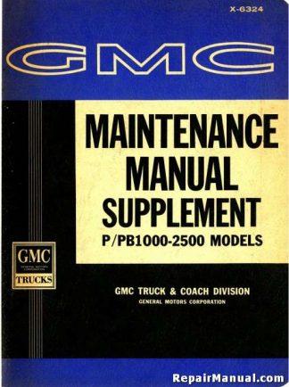 1963 GMC Truck Maintenance Manual Supplement