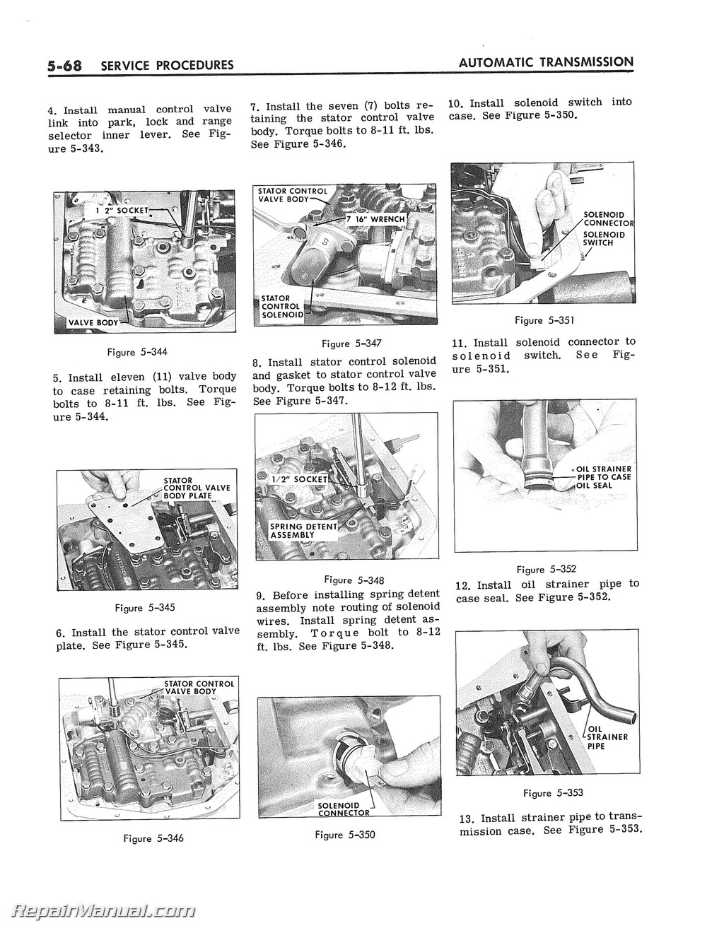 1964 buick super turbine 300 automatic transmission service manual rh repairmanual com automatic transmission repair manual pdf automatic transmission workshop manual