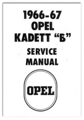 1964-1965 1966-1967 Opel Kadett B Service Manual