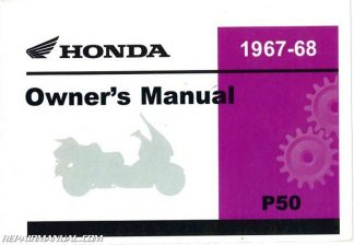1967-1968 Honda P50 Little Scooter Owners ManualRepair Manuals Online
